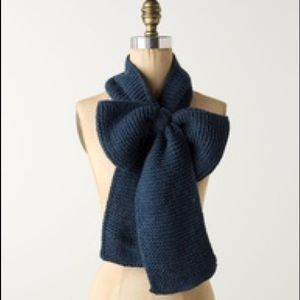 Anthropologie bow scarf NWT